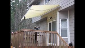 Motorized Awnings Reviews Aleko Patio Awning Youtube