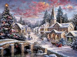 christmas scenery wallpapers desktop nexus