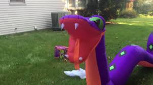 halloween blow ups clearance 20 foot long snake halloween inflatable made in 2016 youtube