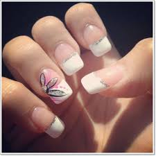 french tip nails with designs how you can do it at home