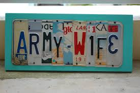 army wife license plate art wall hanging home decor by uniquepl8z