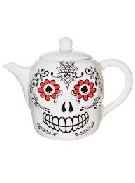 day of the dead sugar skull teapot by accoutrements dine day of the dead sugar skull teapot by accoutrements dine plasticland