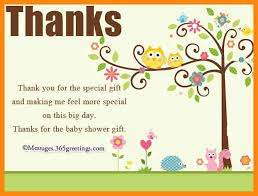 7 thank you notes for baby shower resumed