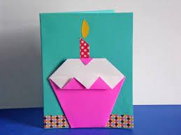create birthday cards easy diy origami cupcake birthday card