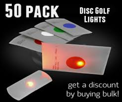 50 pack of flat led lights for disc golf and crafts