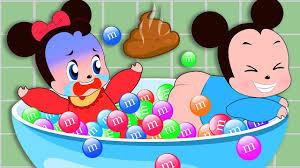 ᴴᴰ mickey mouse u0026 minnie mouse babies poops u0026m bathtub funny