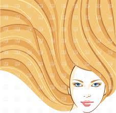 beautiful long blonde wavy hair royalty free vector clip