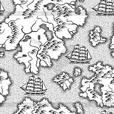 pattern clip art images pattern with old nautical map vector clip art