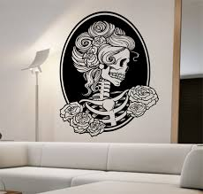 day of the dead home decor day of the dead vinyl wall decal sticker art decor bedroom