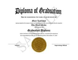 graduation diploma homeschooling diplomas easy template for home school