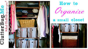 how to organize a small closet youtube