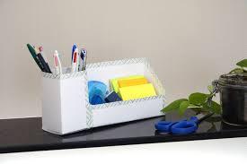 organiseur bureau diy un organiseur de bureau en décoré facile au fil du thym