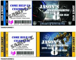 transformer birthday party ticket invitation transformer p u2026 flickr
