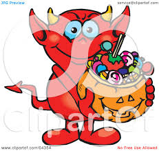 clipart of a happy devil playing an acoustic guitar royalty free