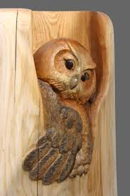 owl wood carving woodcarving carved door sculpture by mk carving canada gallery1