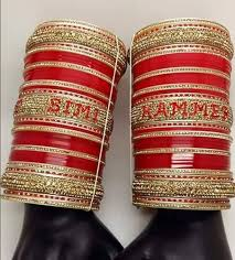 wedding chura with name indian bridal chura at rs 3699 set bridal chura id 9129480912