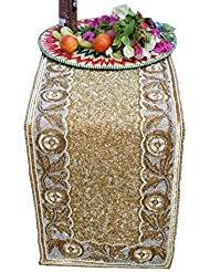 Beaded Table Linens - amazon com gold table runners kitchen u0026 table linens home
