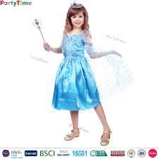 Elsa Halloween Costumes Kids Elsa Dress Cosplay Costume Frozen Elsa Dress Cosplay Costume