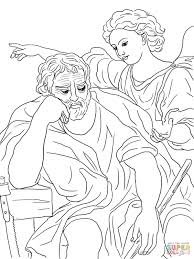 the dream of saint joseph coloring page free printable coloring