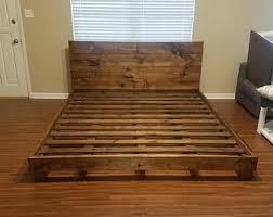 King Size Wood Bed Frames King Bed Frame Etsy