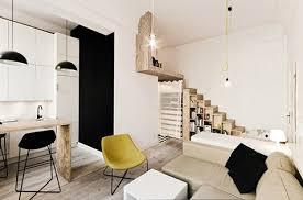 mezzanine chambre aménagement studio 29 m2 avec chambre en mezzanine