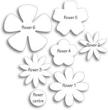 Paper Flower The 25 Best Flower Template Ideas On Pinterest Paper Flowers