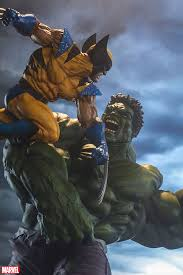 marvel hulk wolverine maquette sideshow collectibles