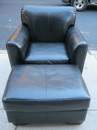 Black Chair And Ottoman by Black Leather Chair And Ottoman Modern Chairs Design