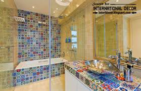 Bathroom Tile Pattern Ideas Bathroom Mosaic Tile Bathroom Backsplash White Interior Designs
