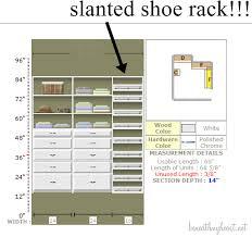 Shoe Cabinet Plans My New Master Closet Design Beneath My Heart