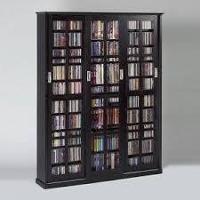 Sliding Door Storage Cabinet by Dvd Storage Cabinet With Doors Foter