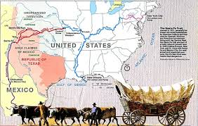 Map Of The United States And Mexico by Santa Fe Trail Wikipedia