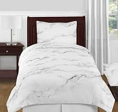 modern grey black and white marble 4 piece twin twin xl size