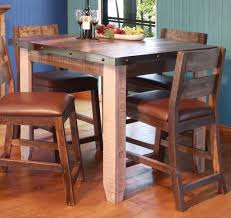 rustic dining room sets rustic square counter height dining table best gallery of tables