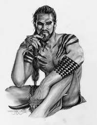 khal drogo game of thrones jason momoa by shonnawhite on