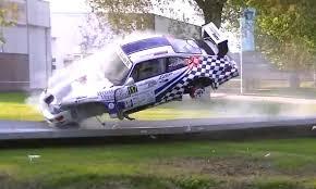scary porsche race car wreck at rally hellendoorn u2013 america loves