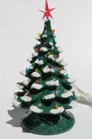 ceramic christmas tree with lights cracker barrel vintage christmas and new year