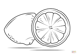lemon cross section coloring page free printable coloring pages