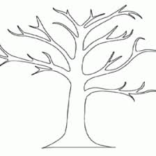 blank tree coloring page drawing and coloring pages marisa