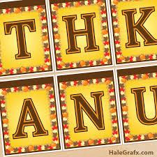 free printable thanksgiving banner set thanksgiving