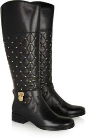 womens boots quilted authentic chanel 12a 37 5 quilted black leather wedge heel