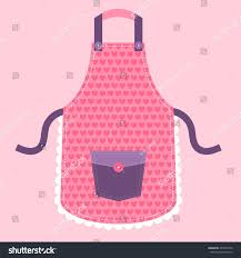 pink kitchen apron hearts stock vector 403931650 shutterstock