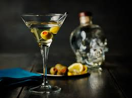 Pure Tini 2 Oz Crystal Head Vodka 1 4 Oz Dry Vermouth 2 Olives