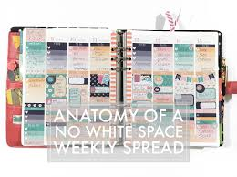 space planner five sixteenths blog anatomy of my no white space planner layout