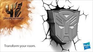 licensed transformers faction symbol 3d deco lights transformers