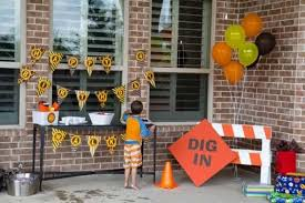 construction party supplies dig in 9 construction themed birthday party ideas spaceships