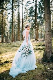 blue wedding picture of a blue wedding dress with a slit on the back a lace