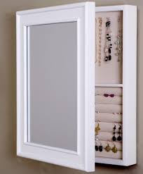 Wall Mirror Jewelry Armoire Wall Hanging Jewelry Box Wall Decor Wall Mirror Jewelry Armoire