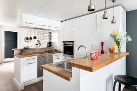 cuisine design en u cuisine en u ouverte sur salon maison design bahbe com