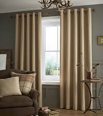 Living Room Curtains On Ebay Catherine Lansfield Oatmeal Brushed Heritage Plain Fully Lined